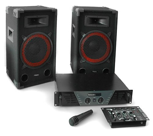 Ibiza DJ 300 Set audio professionale 2.1 mixer 1micro