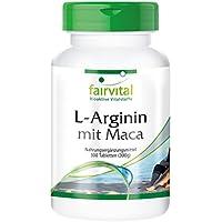 Preisvergleich für L-Arginin mit Maca - für 2 Monate - HOCHDOSIERT - 300 Tabletten - mit Beta-Glucan, OPC und Zink