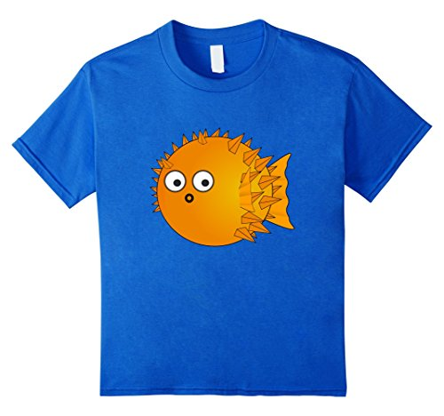 Kids Pufferfish Blowfish Aquarium T-shirt Boys Girls Child Ocean Kinder, Größe 116 Königsblau