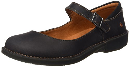 ART 0929 Olio Bergen, Ballerine Closed-Toe Donna Nero (Black)