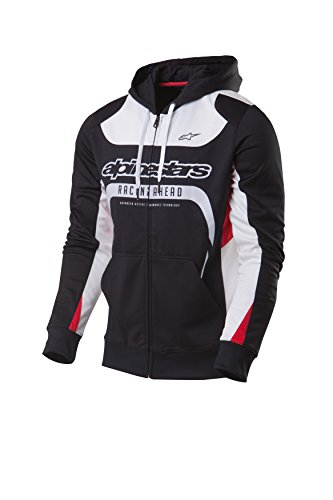 Fleece Sweat (Alpinestars Herren Fleecejacke mit Kapuze Sweats/fleeces Session, Schwarz (Black), L)