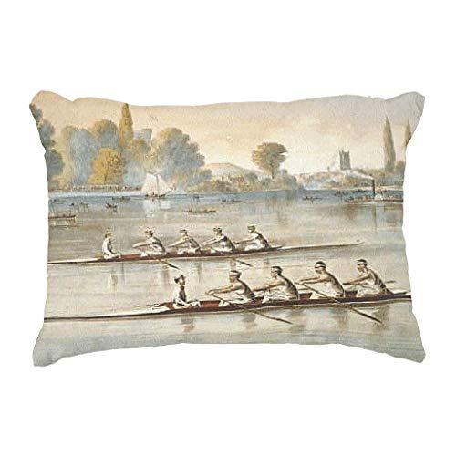 Ruffled Silk Top (CHKWYN Top Rowing Throw Pillow Case Cushion Cover,Cushion Size:16 x 16 inches)