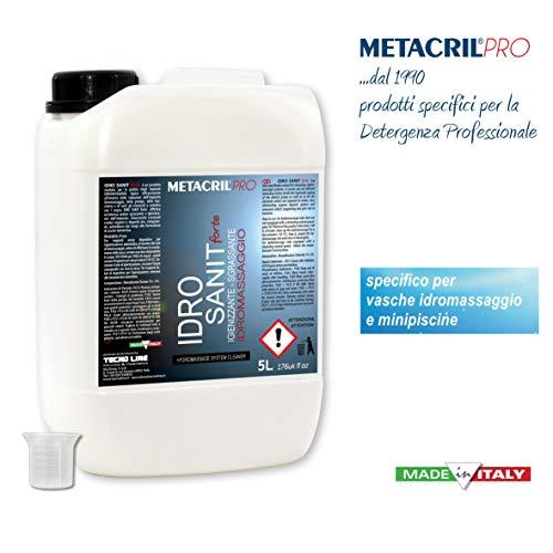 Nettoyant et sanificante pour jacuzzi (teuco, Albatros, etc. etc.)-idro sanit forte 5litres + Doseur Gradué-Expédition immédia