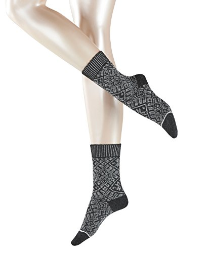 ESPRIT Damen Norwegian Boot W SO Socken, Blickdicht, Grau (Anthracite Melange 3080), 39-42