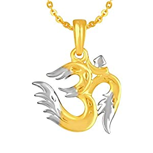 aaa865266fcc17 MEENAZ Fashion Jewellery Gold Plated Om Ganesh Ganpati Pendant for Men  Women Girls,Locket Jewellery Set God Pendant with Chain for Man Womens  Girls Unisex ...
