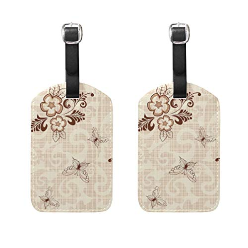 Butterfly Flower Branches Leaves Creative Pattern Printing Travel Labels Luggage Tag Vintage Style Name Card Holder for Baggage 89tAGS314 -