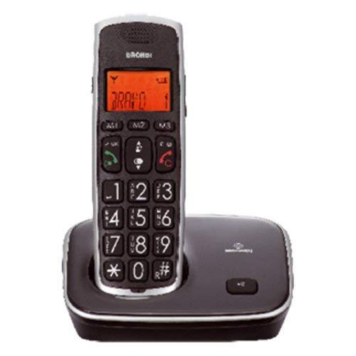 Brondi Bravo Gold 2 Telefono Cordless, Nero