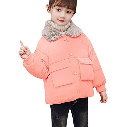 Pwtchenty Baby Mädchen Mäntel Winter Fleece Mantel einfarbigen Mantel Winter Jacke Mantel Outdoor Kapuze Parka Freizeit Outwear Steppjacke Warm Kleidung