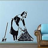 Yssyss Maid Stickers Muraux Décoration De Maison Street Art Vinyle Moule Graffiti...