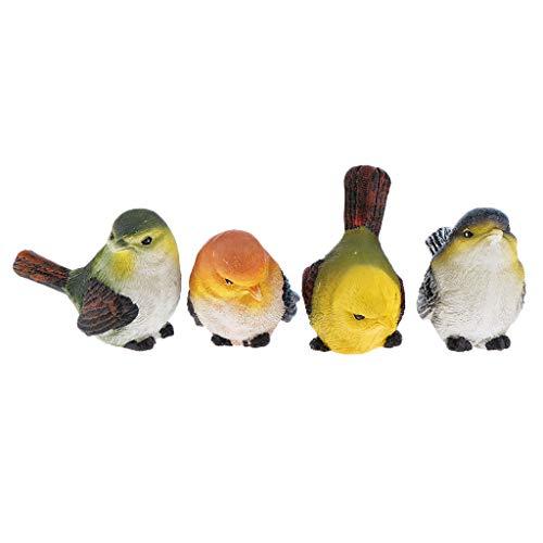 Künstliche Mini Vogel Feder Vögelchen Kunststoff Dekofigur Dekovögel ()