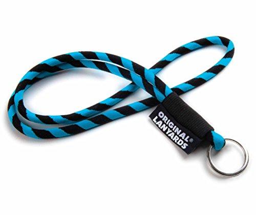 Original Lanyards® LEIS LABEL Schlüsselband, Schlüsselanhänger - blau/ schwarz