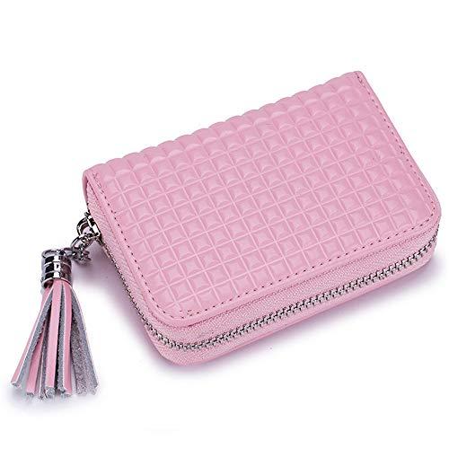 1e7c532c40 WMX ID-Geldbörse und Kreditkarteninhaber, Reißverschluss-Geldbörse aus  Leder, Kreditkartenetui aus weichem