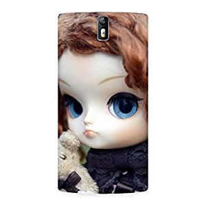 Premium Hugging Teddy Doll Multicolor Back Case Cover for One Plus One