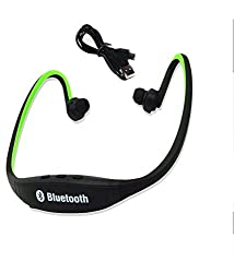 Defloc Bluetooth Headphones with Mic SD Card Slot BS19C (Black-Green)