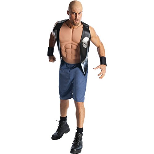 Stone Cold Steve Austin Kostüm WWE Wrestling WWF 3:16 Fancy Dress Herren Ringer Mehrfarbig Mehrfarbig Für (Austin Kostüme)