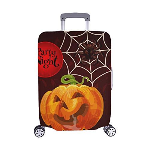 appy Halloween Grusskarte Scary Kürbis Staubschutz Trolley Protector case Reisegepäck Beschützer Koffer Cover 28,5 X 20,5 Zoll ()