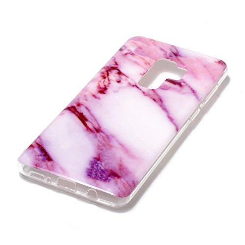 inShang Samsung Galaxy S9+ custodia cover del cellulare, Anti Slip, ultra sottile e leggero, custodia morbido realizzata in materiale del TPU, frosted shell , conveniente cell phone case per Galaxy S9 Purple marble