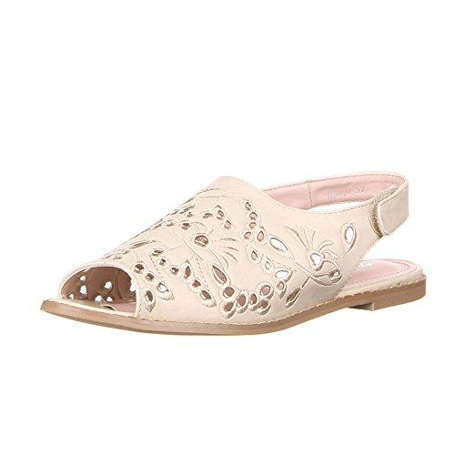 Kostüm Leicht Belle - Damen Schuhe, 50869, Sandalen, LUFTIG LEICHTE Sommersandalen, Synthetik in hochwertiger Lederoptik, Creme, Gr 40