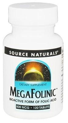 Source Naturals MegaFolinic (800mcg) 120 tabs from Source Naturals