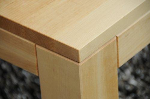 Birke Ahorn-tisch (Holz-Projekt-Summer Couchtisch Birke 90x60cm H:42cm mit Ablage Zarge bündig/Echtholz Massivholz/Wunschgröße auf Anfrage)