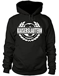 shirtloge - KAISERSLAUTERN - Fussball Lorbeerkranz - Fan-Kapuzenpullover - Größe S - 3XL