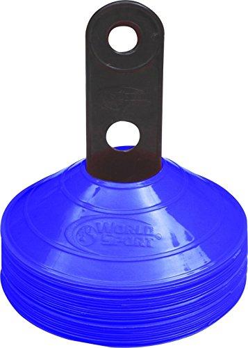 World Sport 50Disc Konus-Set mit Carrier?wählen Sie aus 10Farben blau