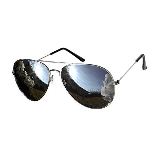 Candygirls Unisex Sonnenbrille Pilotenbrille Pornobrille Sonnen Brille Fliegerbrille 28 (1 Silber)