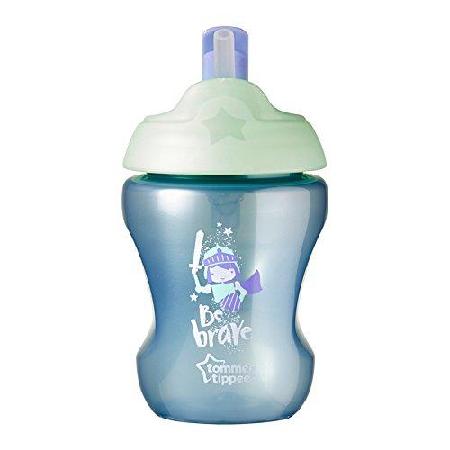 Tommee Tippee - Taza de entrenamiento con pajita (libre de BPA, para niños a partir de 7 meses), color azul