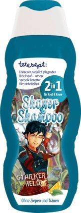 Kinder Duschgel + Shampoo STARKER HELD (2 in 1 / 200 ml) OHNE ZIEPEN UND TRÄNEN