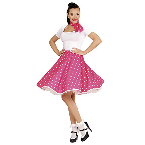Widmann - Kostümset 50s Lady, 2-tlg. (Girls 50er Jahre Pink Lady Kostüm)