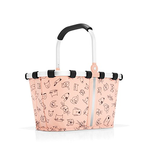 Reisenthel carrybag XS kids Strandtasche IA3064, 34 cm, 5 L, Cats And Dogs Rose