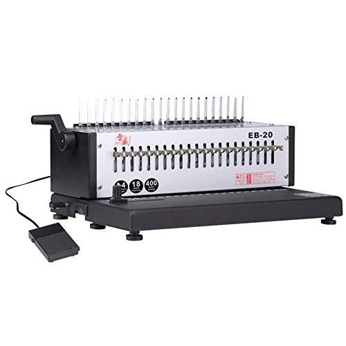 JiMany A4 Papier Elektrische Schürze Clip Kamm Bindemaschine, 24 Löcher Für Elektrische Stanzen,...