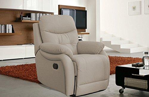 Poltrona relax manuale reclinabile confortevole e super imbottita