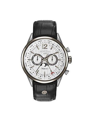 ROAMER Herren Analog Quarz Uhr mit Leder Armband 508822 40 14 05