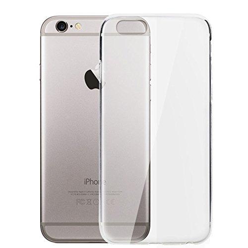 Electrónica Rey Funda Carcasa Gel Transparente para iPhone 6 y 6S Ultra Fina 0,33mm, Silicona TPU de Alta Resistencia y Flexibilidad