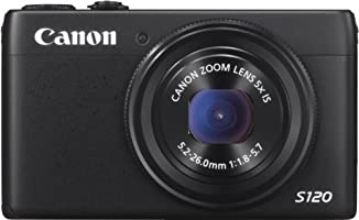 Canon PowerShot S120 Digitalkamera (12,1 Megapixel, 5-fach opt. Zoom, 7,6 cm (3 Zoll) LCD-Display) schwarz