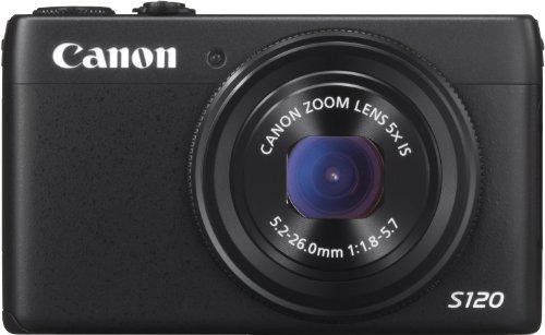 Canon PowerShot S120 Digitalkamera (12,1 MP, 5-Fach Opt. Zoom, 7,6cm (3 Zoll) LCD-Display) schwarz (Canon S100)