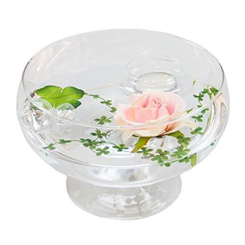 Angela roxy .11 h 75 cm-diamètre 17 cm avec décoration rose couleur or rose (grand modèle)