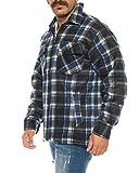 Holzfällerhemd Arbeitshemd Flanellhemd/Jacke Kariert Thermohemd gefüttert 05 (XL, Blau/Weiß) Test