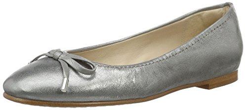 Clarks Damen Grace Lily Geschlossene Ballerinas, Grau (Silver Metallic), 39.5 EU