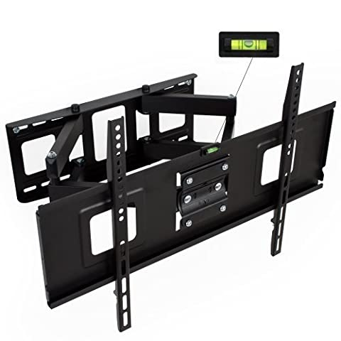 TecTake® TV Wandhalterung für Flachbildschirme neigbar schwenkbar max VESA 600x400 bis 120kg Plasma LCD LED 81cm (32 Zoll) - 165cm (65 Zoll) Wandabstand 7