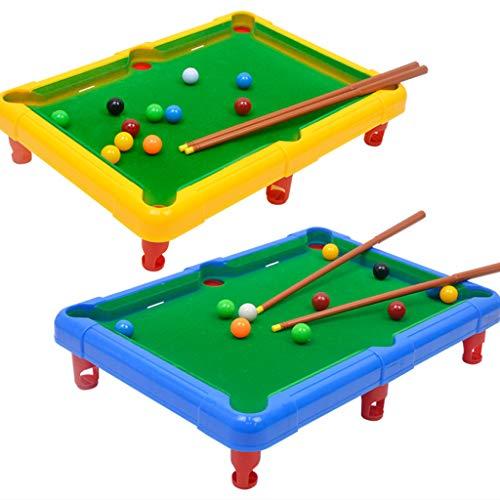 huyiko 1 Set Mini Büro Pool Billard Tisch Spielzeug Spielbälle für Kinder Erziehungszeit Sport Spielzeug Geschenke