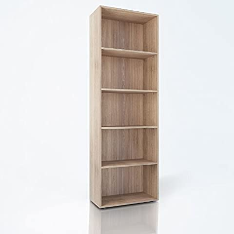 Bücherregal 190cm Eiche Sonoma - Regal Standregal Aktenregal Aktenschrank