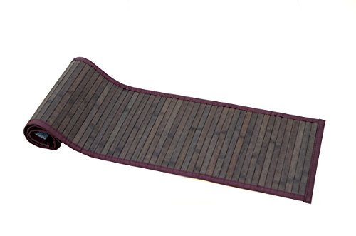 Bamboo Greens Table Runner, Size : 30X135 cms, (Chocolate Brown)