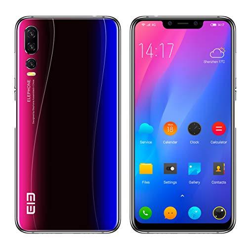 "ELEPHONE A5 Smartphone Ohne Vertrag - 6,18\"" FHD + Android 8.1-Handy, Schlankes und Elegantes Design, Helio P60 6 GB + 128 GB, AI 5-Kamera (20MP + 2MP Frontkamera), 4000 mAh – Sternenhimmel Blau"