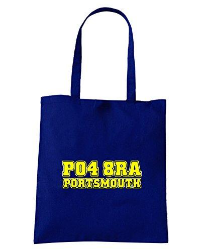 T-Shirtshock - Borsa Shopping WC1095 portsmouth-postcode-tshirt design Blu Navy