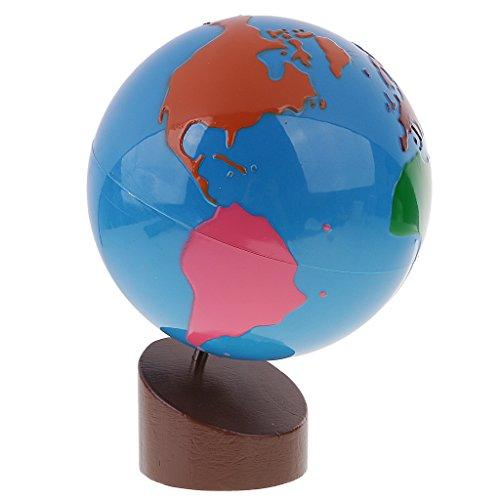 MagiDeal Montessori Geografía Material-Globo de Partes de Mundo Juguetes Educativos para Niños