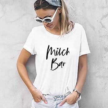 """Mama Shirt""""Milch Bar"""" aus Baumwolle weiß in XS-2XL"""