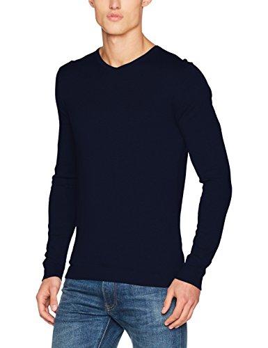 JACK & JONES PREMIUM Herren Pullover Jprluke Cashmere Knit V-Neck Noos, Blau (Maritime Blue), Medium (Blue V-neck-gerippte)