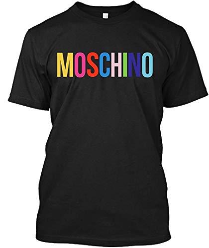 Hobby t-shirt moschino maglietta ispirata a lettere colorate per uomo